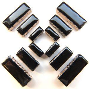 Ceramic Rectangles Black H1
