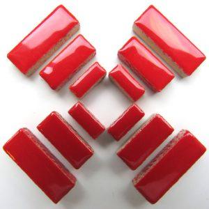 Ceramic Rectangles Poppy Red H401