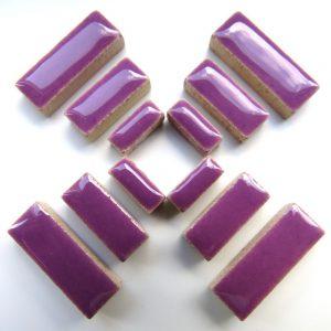 Ceramic Rectangles Pretty Purple H43