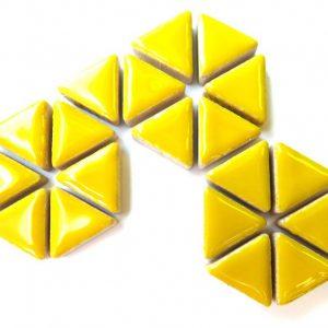 Ceramic Triangles Citrus Yellow H71