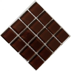 Crystal Glass Chocolate Mosaic Tile