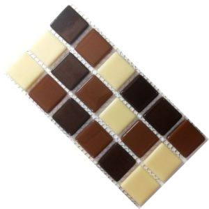 Crystal Glass Solids Macha Mix Mosaic Tiles