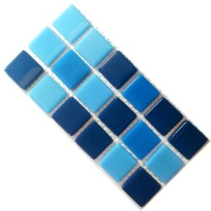 Crystal Glass Solid Sky Mix Mosaic Tiles