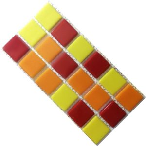 Crystal Glass Solids Summer Fruits Mix Mosaic Tiles