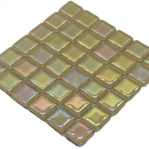 Yellow Cream Crystal Pearl Mosaic