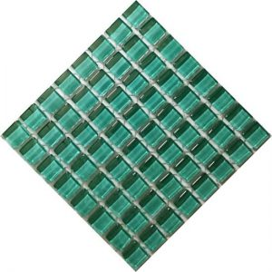 Crystal Glass teal Green