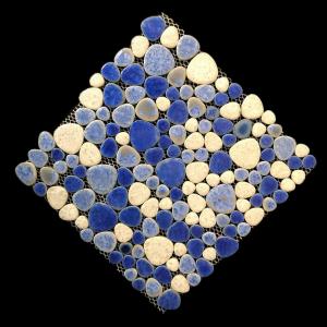 Iceberg pebble mosaic