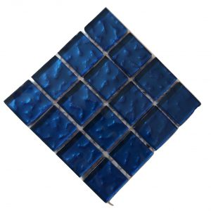 Metallic Texture Water Blue Mosaic tile