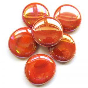 Orange Pearlised Glass Nugget