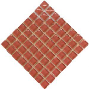 crystal glass salmon mosaic tile
