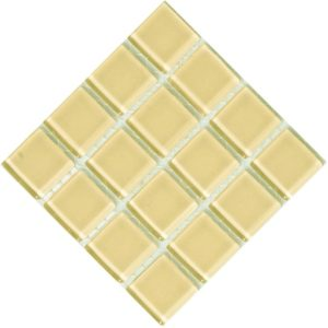 Crystal Glass Ivory mosaic
