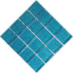 glitter sky blue mosaic