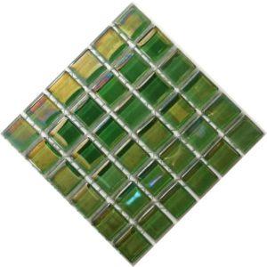 pearl dark green mosaic tiles