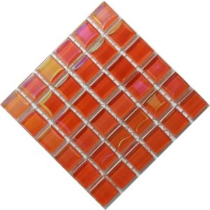 pearl orange mosaic tiles